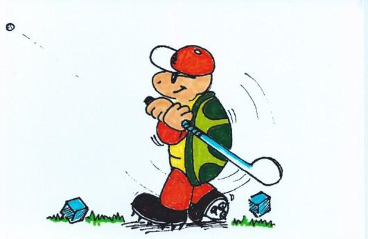 Golfing Turtle