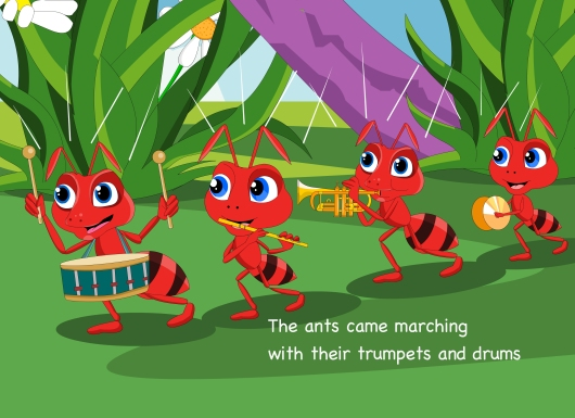 Ants came marching