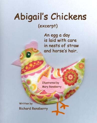 Chicken felt book ad
